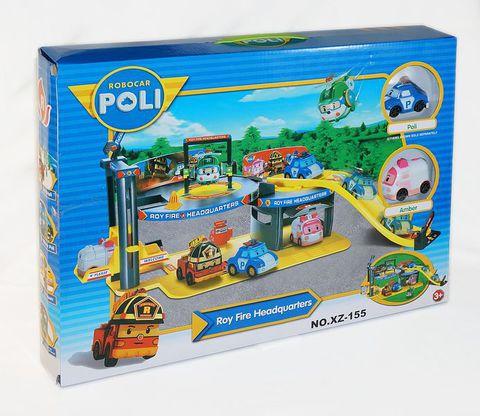 Парковка Робокар Поли «Пожарная часть Роя» (код: XZ-155)