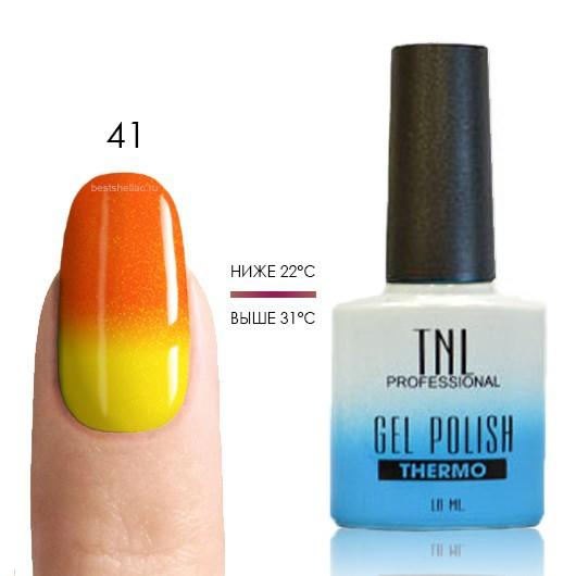 Термо TNL, Термо гель-лак № 41 апельсиновый/желтый (с микроблёстками), 10 мл 41.jpg