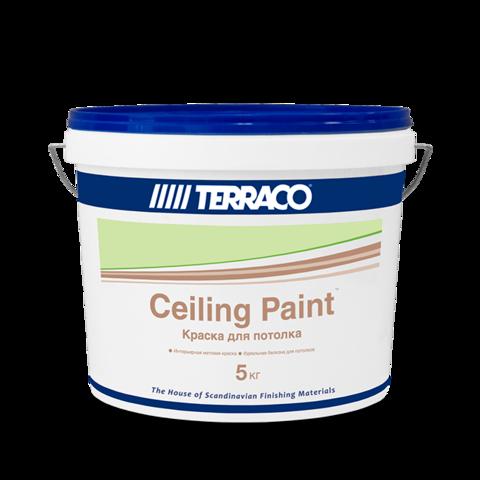 Terraco Celling Paint/Террако Сэйлинг Пэйнт акриловая краска для потолков