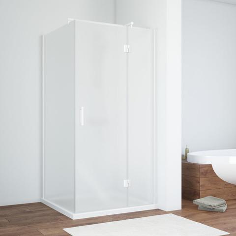 Душевой уголок Vegas Glass AFP-Fis профиль белый, стекло сатин