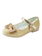 Нарядные туфли золотистые