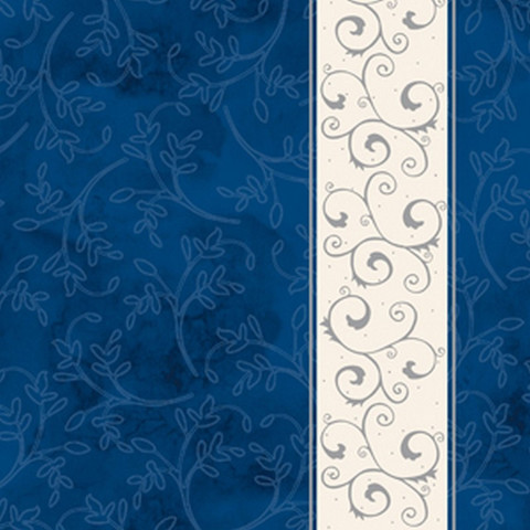 Салфетки бумажные Классика 33x33 3сл. Серебряная полоса, синий фон