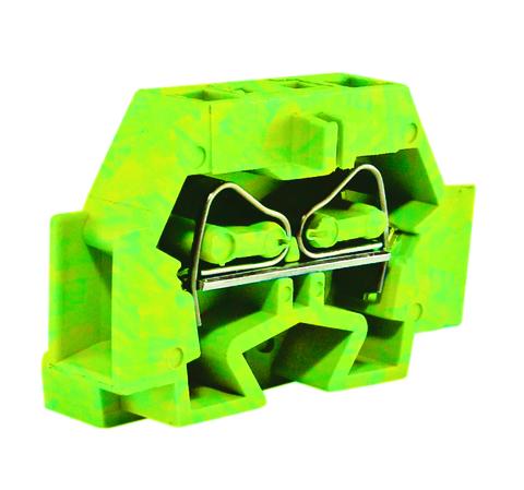 Микроклемма модульная МКМ 4мм2 желто-зеленая TDM