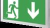 Светодиодный светильник указатель выход IP44 Infinity II AD Awex – белый корпус