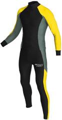 Раздельный лыжный гоночный комбинезон Ray Race Black-Lime-Grey