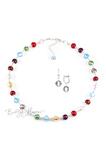 Комплект Carnavale Argento (серебристые серьги на серебре, ожерелье)