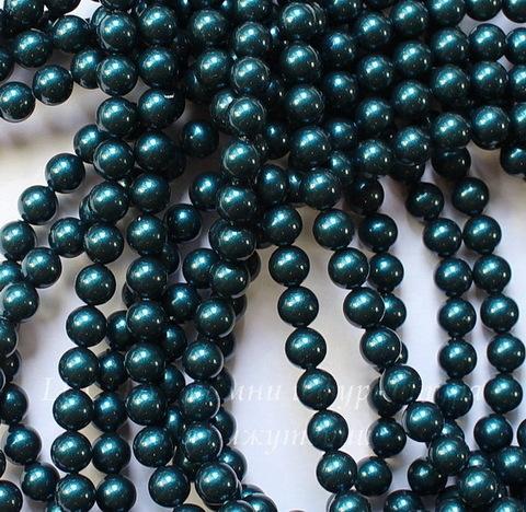 5810 Хрустальный жемчуг Сваровски Crystal Petrol круглый 6 мм, 5 штук