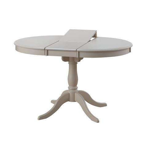 Стол Siena круглый раскладной деревянный сливочно-белый