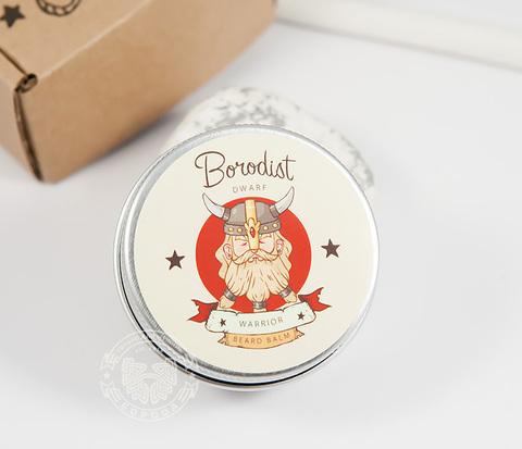 Бальзам для бороды «BORODIST WARRIOR» с пчелиным воском (30 гр)