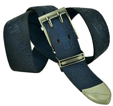 Джинсовый тёмно-синий ремень 40legend-040