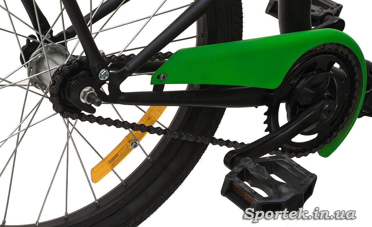 Трансмиссия складного подросткового велосипеда Dorozhnik Fun 2016