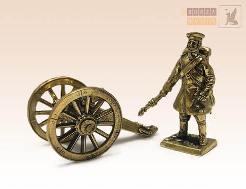фигурка Артиллерист с пушкой (РИА 1853-1856 гг.)