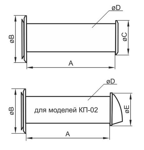 Клапан приточный Эра 16КП1 1м