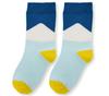Носки детские голубые с рисунком Треугольник