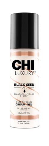 Крем-гель CHI Luxury с маслом семян черного тмина для укладки кудрявых волос, 147 мл