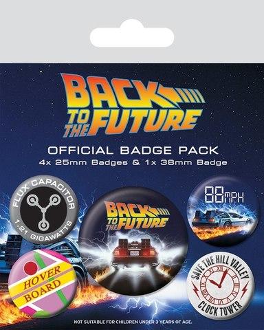 Набор значков Back to the Future
