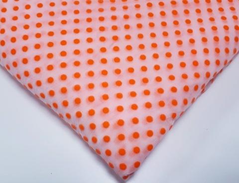 Эластичная сетка, мушки, ярко-оранжевый