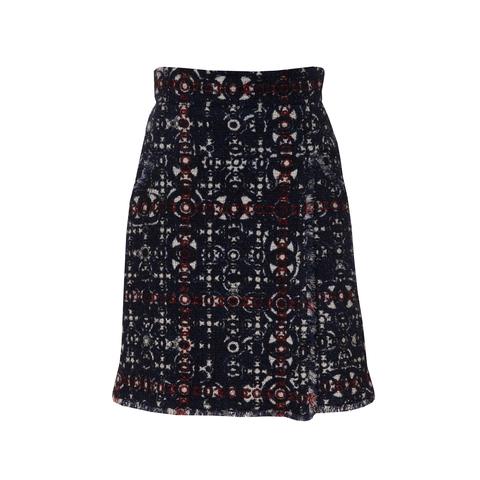 Красивая твидовая юбка с оригинальным принтом от Chanel, 38 размер.