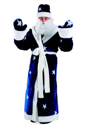 Дед Мороз мех синий