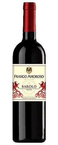 Вино Франко Аморозо Бароло красное сухое защищюнаимен.места происх.кат.ДОКГ,рег.Пьемонт 0,75л.