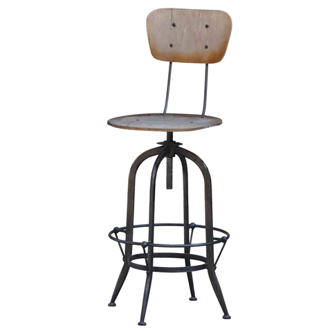 барный стул Industrial Barstool Ply Seat And Back