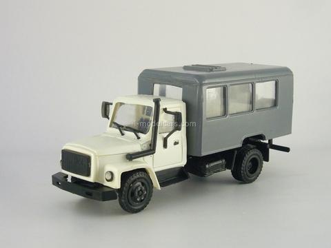 GAZ-3309 Watch white-grey Kompanion 1:43