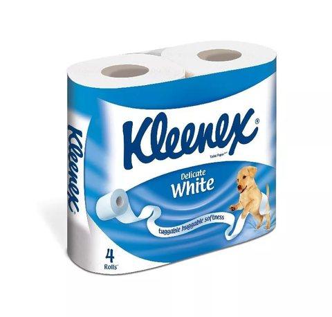 Туалетная бумага КЛИНЕКС 4шт 2-х сл Белая