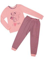 10963 пижама для девочек розовая