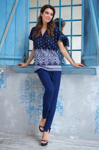 Комплект  женский с брюками  MIA-MIA  Leona ЛЕОНА 16216 синий