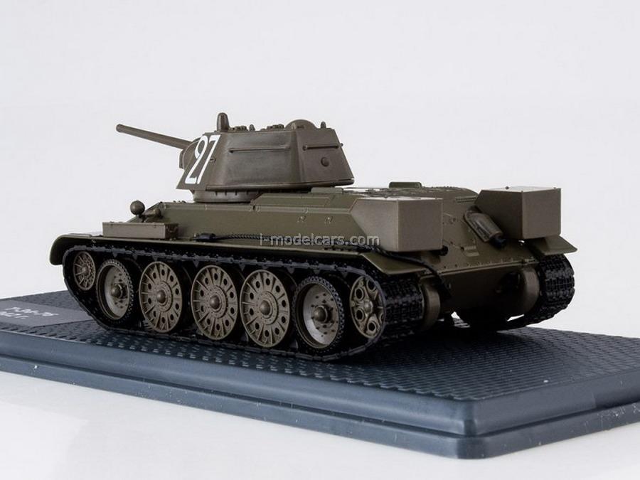 Tank T-34 sample 1942 year 1:43 DeAgostini Tanks. Legends of Patriotic armored vehicles