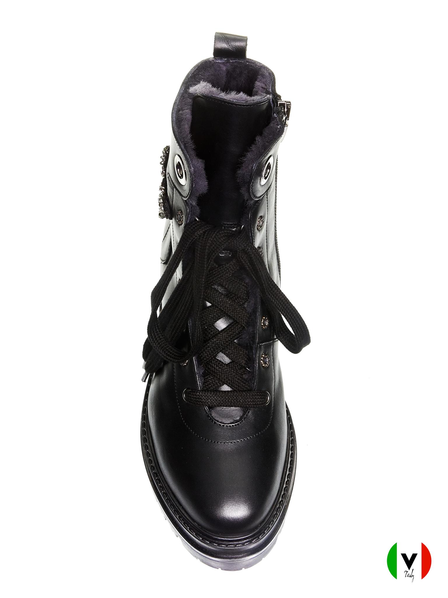 Ботинки Laura Bellariva, артикул 2060, сезон зима, цвет чёрный, материал кожа, цена 18 500 руб., veroitaly.ru