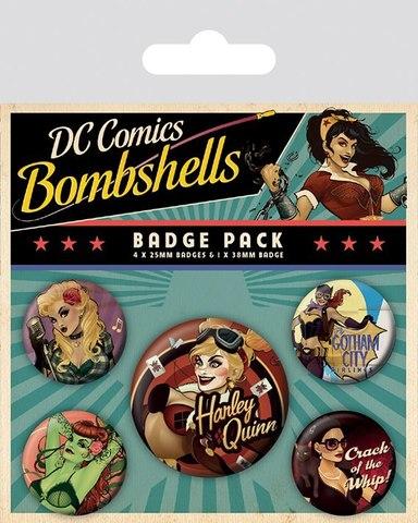 Набор значков DC Comics Bombshells