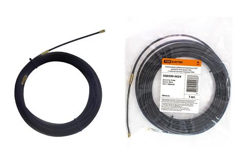 Нейлоновая кабельная протяжка НКП диаметр 4мм длина 20м с наконечниками (черная) TDM