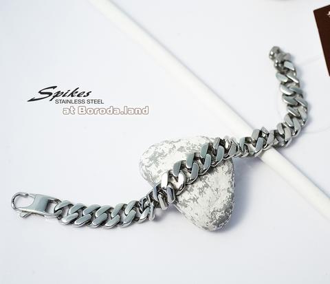 SSBQ-3494 Массивный мужской браслет &#34Spikes&#34 из ювелирной стали (21 см)