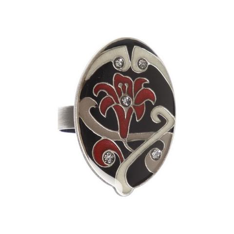 Кольцо лилия K77364.4 BW