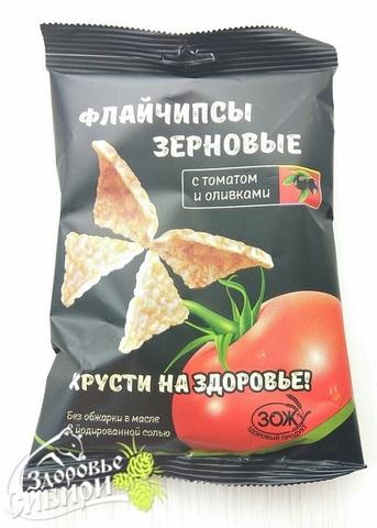 Флайчипсы с томатом и оливками, 40 г