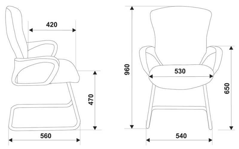 Кресло для посетителей CH-818-LOW-V