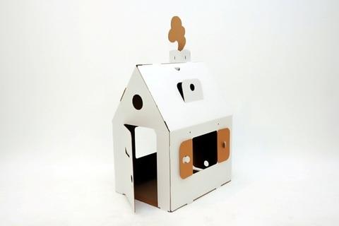 Домик из картона «Мини домик», белый
