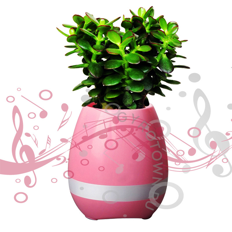 Умный горшок с Bluetooth Smart Music Flowerpot розовый - Bluetooth колонки, артикул: 877571