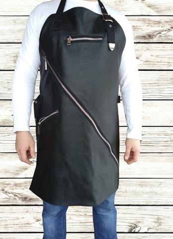 Мужской брутальный кожаный фартук Brewer Lab BL17114 размер М