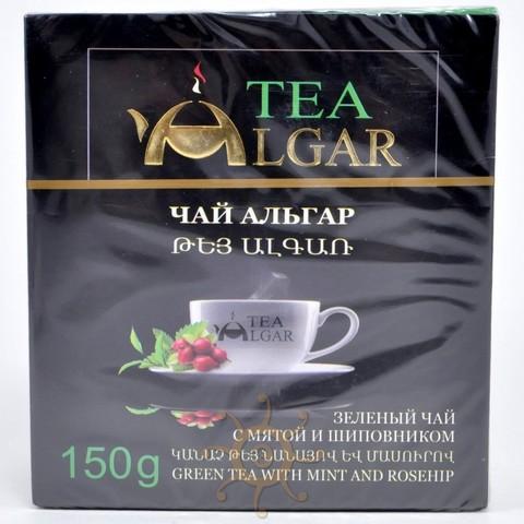 Чай зеленый с мятой и шиповником Альгар, 150г