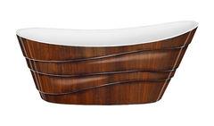 Акриловая ванна Lagard ALYA Brown Wood 170х75 см