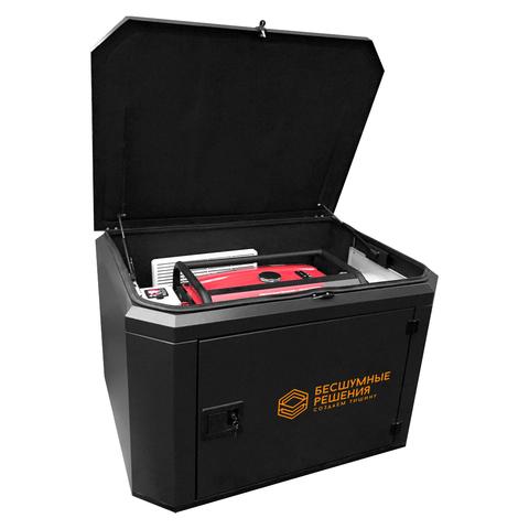 Готовый комплект аварийного питания на 7 кВт бензиновый генератор FUBAG BS7500A ES в еврокожухе SB1200 с блоком байпас (блоком ручного переключения)  летний