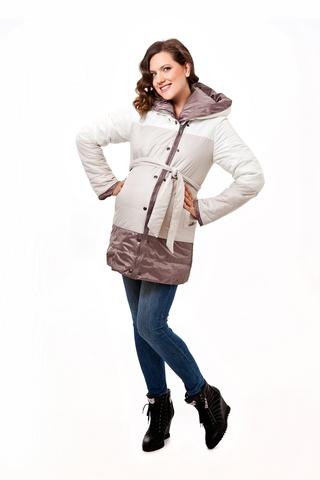 Куртка для беременных 04794 бежевый