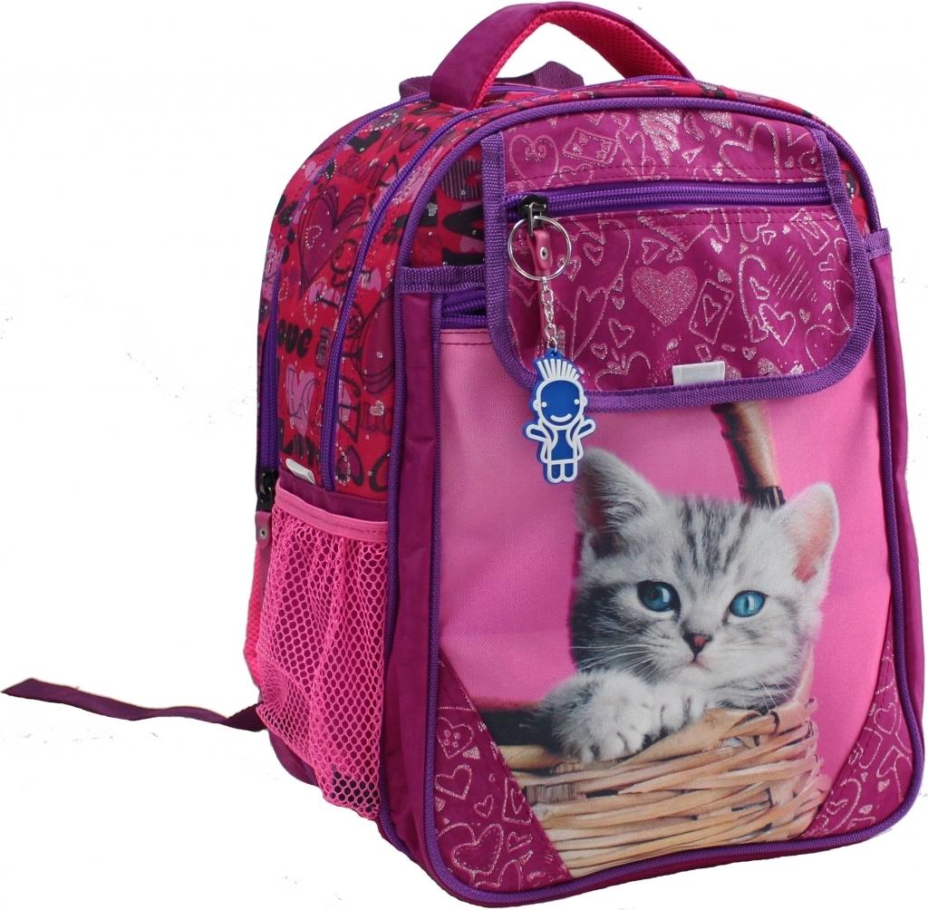 Школьные рюкзаки Рюкзак школьный Bagland Отличник 20 л. Малина (котенок в корзинке) (0058070) 9b94b3d315d4b2938610de45b1265f21.JPG