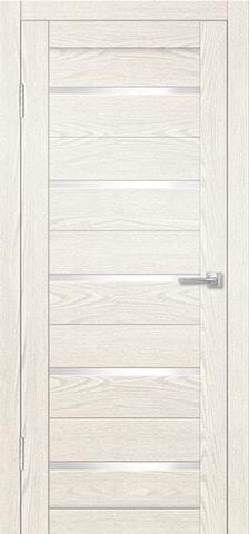 Дверь Porte Line 06, стекло снег, цвет ясень снежный, остекленная