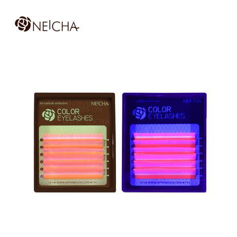 Ресницы NEICHA нейша флуоресцентные 6 линий MIX PINK