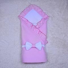 Конверт-плед летний Нежность (розовый)