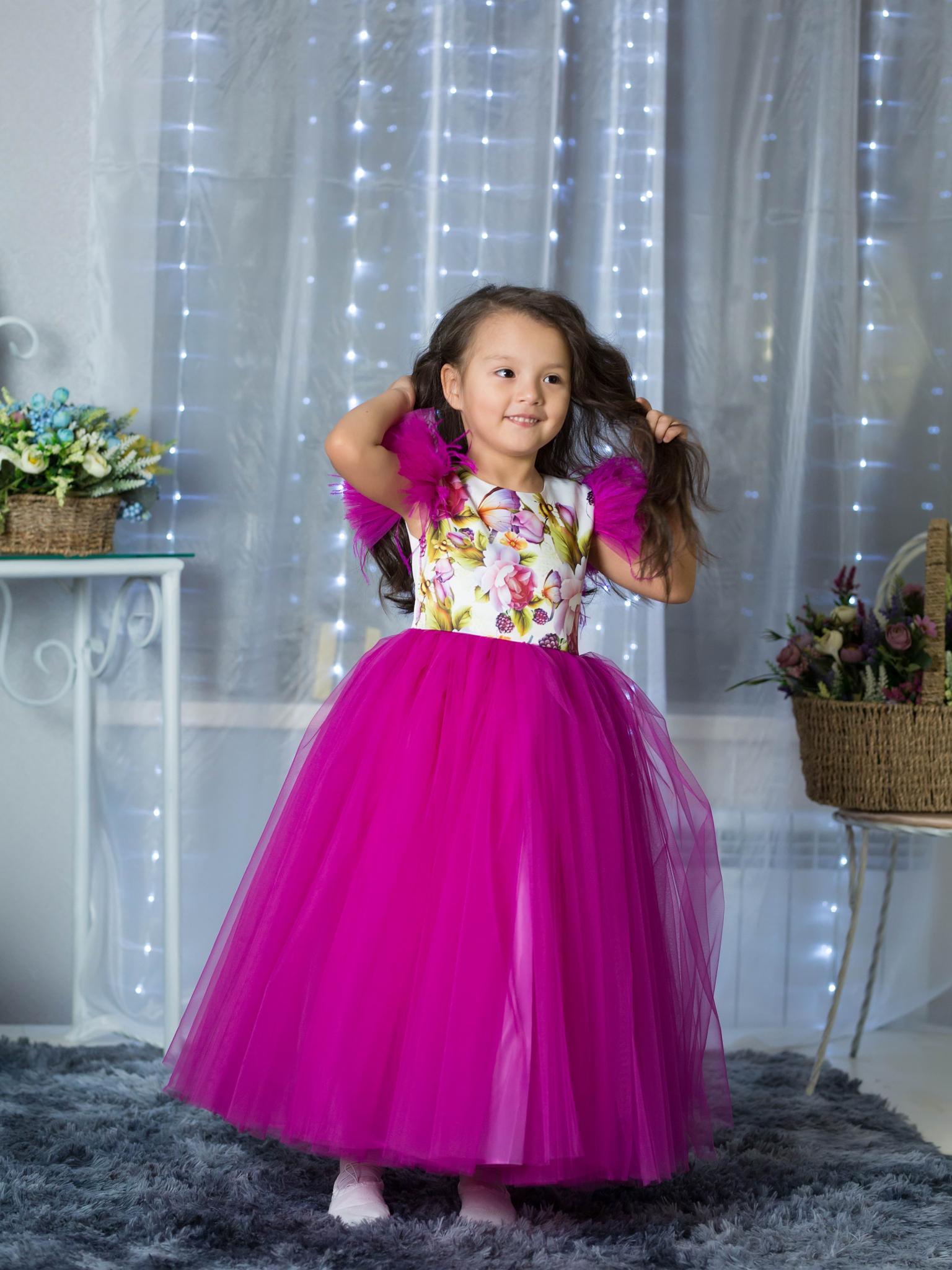 6288473bebc Пышное нарядное платье (Арт.1916 фукс)– купить в интернет-магазине ...
