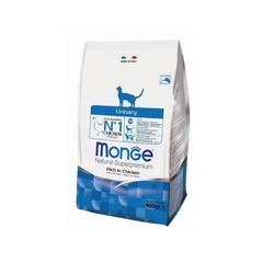 Monge Natural Superpremium Urinary полноценный корм для кошек профилактика МКБ, с курицей и рисом 400гр